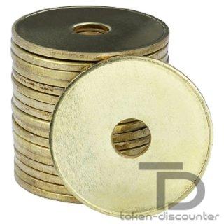 2 Euro Wertmarke (25,6mm x 2,2mm), gelocht, VE=100