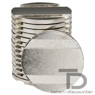 Token pd25 - nickel-plated brass